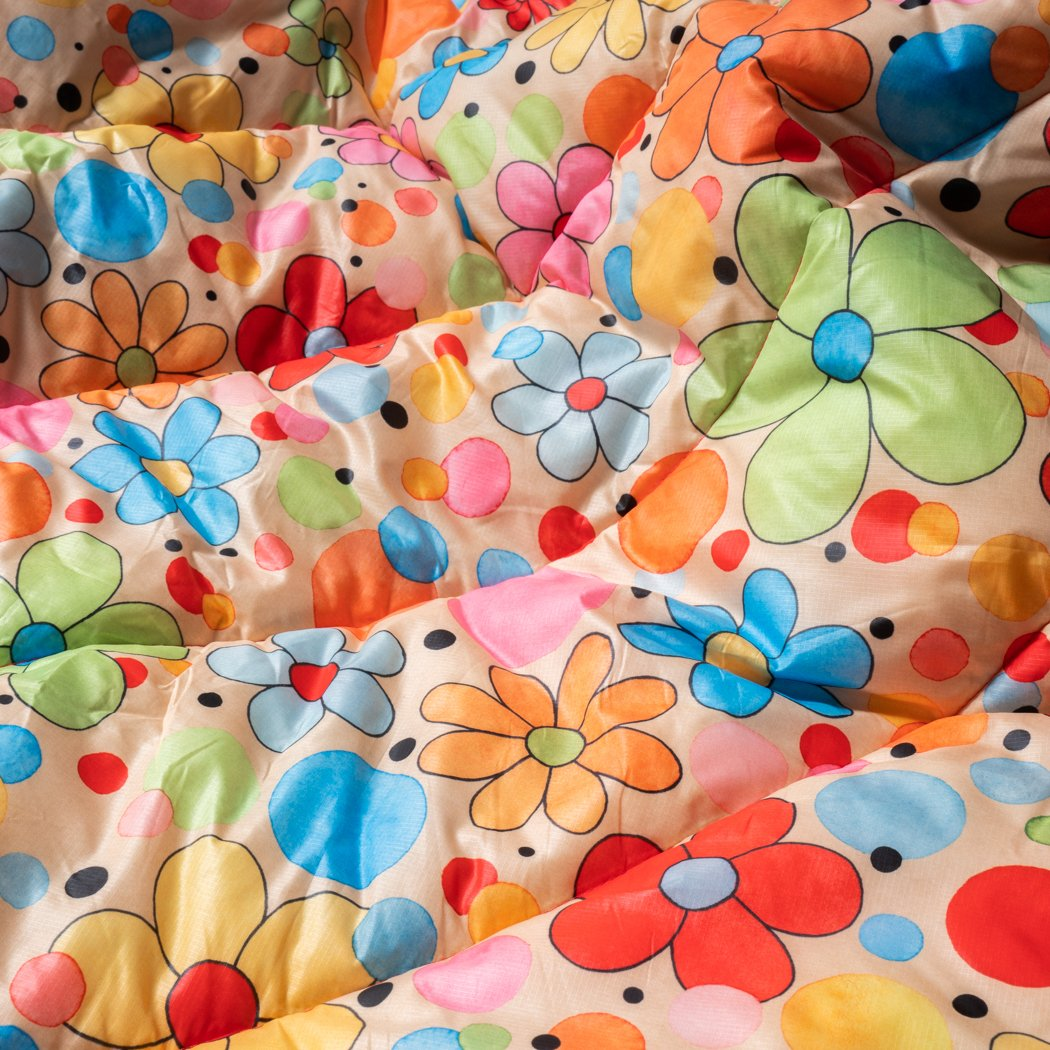 Rumpl | Original Puffy Blanket - Dots & Daisies | 1-Person |  | Printed Original