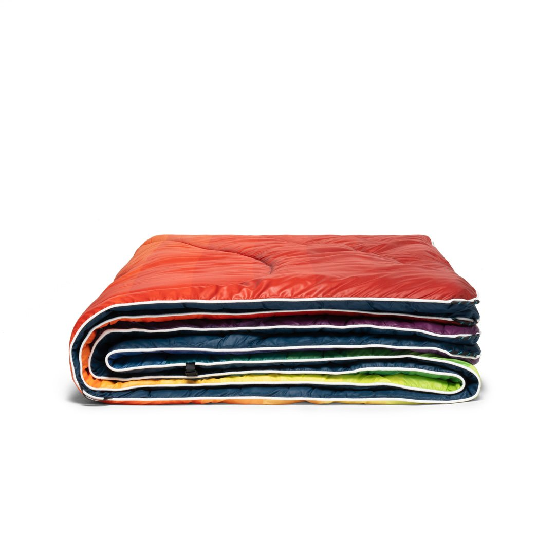 Rumpl | Original Puffy Blanket - Rainbow Fade | 1-Person |  | Printed Original
