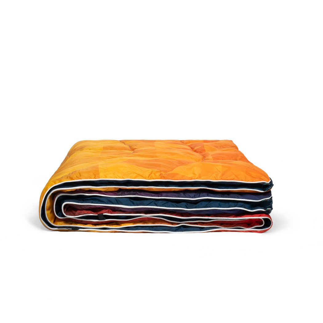 Rumpl | Down Puffy Blanket - Pyro Tri-Fade | 1-Person |  | Printed Down