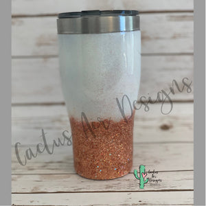 Fall is my Season Glitter Coated Stainless Steel Tumbler