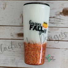 Load image into Gallery viewer, Happy Fall Y'all Glitter Coated Stainless Steel Tumbler