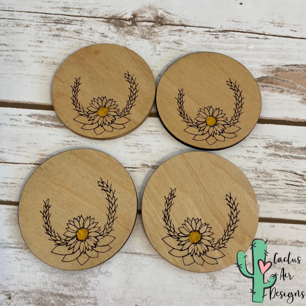 Sunflower Inspired Coasters