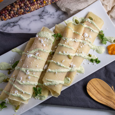 Sweet Potatoes & Feta Cheese Crepes