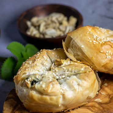 Vegan Phyllo Dough Pastry with Labane Cheese and Spinach