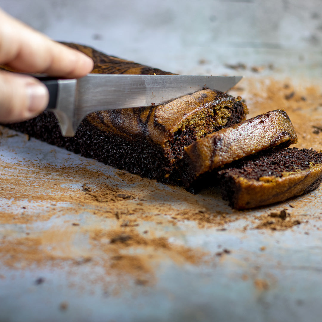 Chocolate Coffee Marble Loaf Cake
