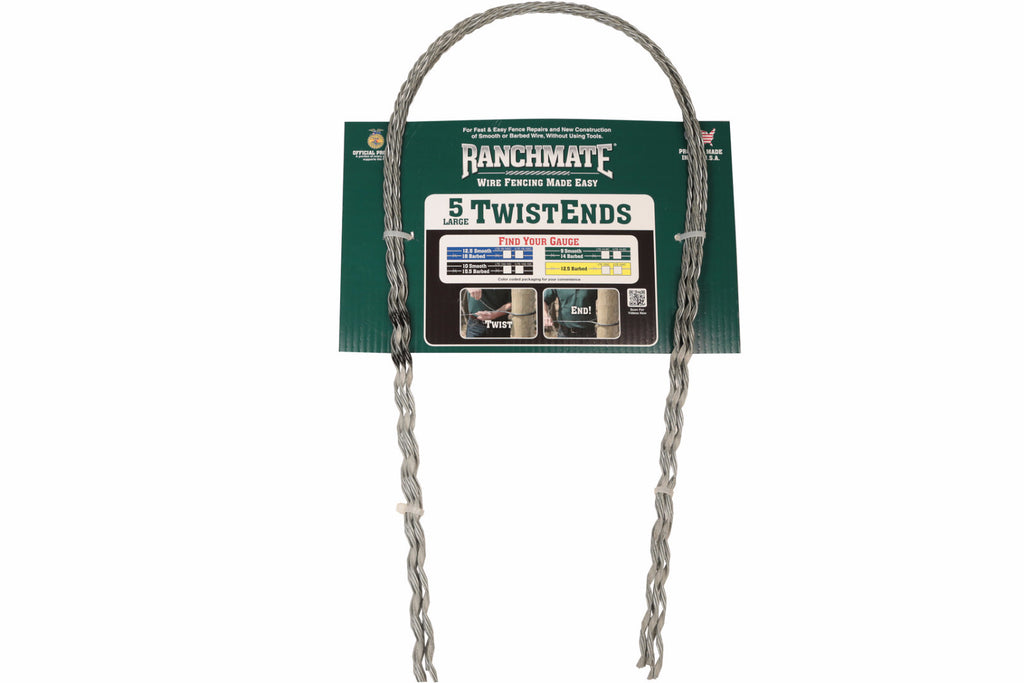Ranchmate LTE-125D Yellow 12.5 Gauge Barbed Large Twistend Contractor