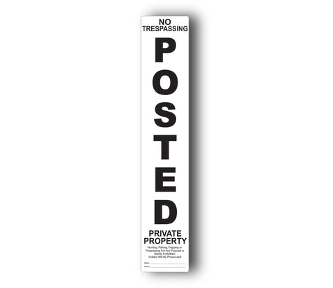3D Post™ POSTED Replacement label