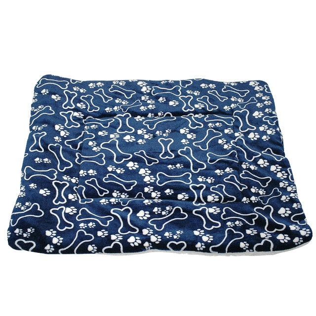 Winter Dog Bed Mat Pet Cushion Blanket Warm Paw Puppy Cat Fleece Beds For Small Large Dogs Cats Pad Chihuahua Cama Perro