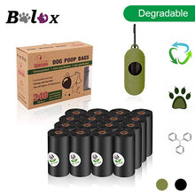 Load image into Gallery viewer, BOLUX Biodegradable Dog Poop Bags Eco-Friendly Pet Waste Bags Dispenser Outdoor Carrier Pet Poop Bags Dog walking Supplies
