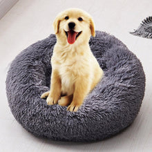 Load image into Gallery viewer, 2019 New Round Dog Bed Washable Long Plush Dog Kennel Cat House Super Soft Cotton Mats Sofa For Dog Basket Pet Warm Sleeping Bed