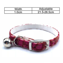 Load image into Gallery viewer, Cat Collar With Bell Name Pet Collar For Cats Personalized Puppy Collars Leash Cat Collar Harness Kitten Pet Lead Supplies Cat