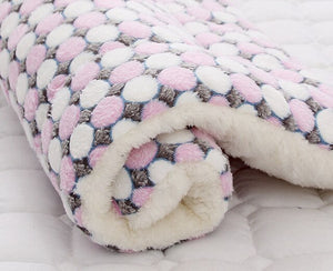 6Size Soft Flannel Pet Mat Bed Winter Thicken Warm Cat Dog Blanket Puppy Sleeping Cover Towel Cushion For Small Medium Large Dog
