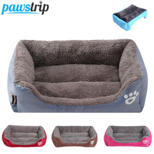 Load image into Gallery viewer, S-3XL 9 Colors Paw Pet Sofa Dog Beds Waterproof Bottom Soft Fleece Warm Cat Bed House Petshop cama perro