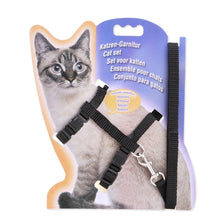 Load image into Gallery viewer, Nylon Cat Harness And Leash Set Pet Products For Animals Adjustable Dog Traction Harness Belt Cat Kitten Halter Cat Collar
