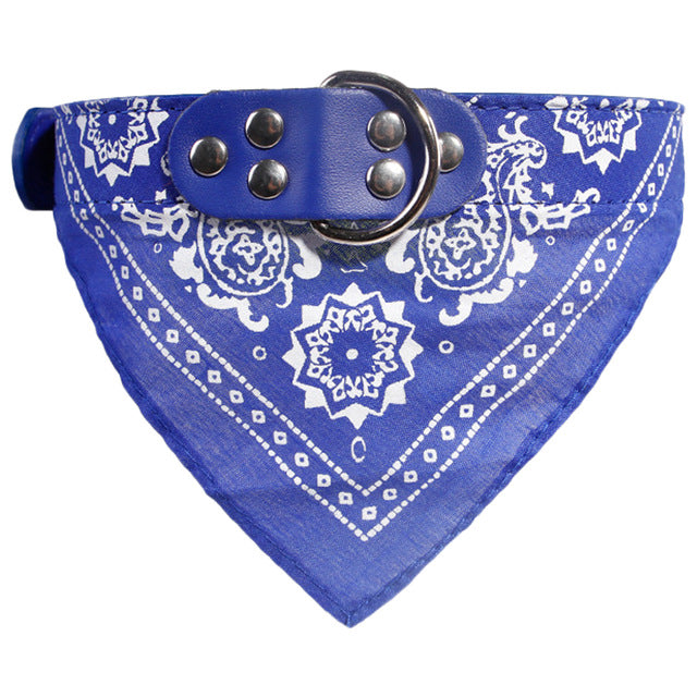 1pc Fashion Adjustable Dog Supplies Puppy Cat Neck Scarf patterns Bandana With Collar Neckerchief Pet Products Accessories