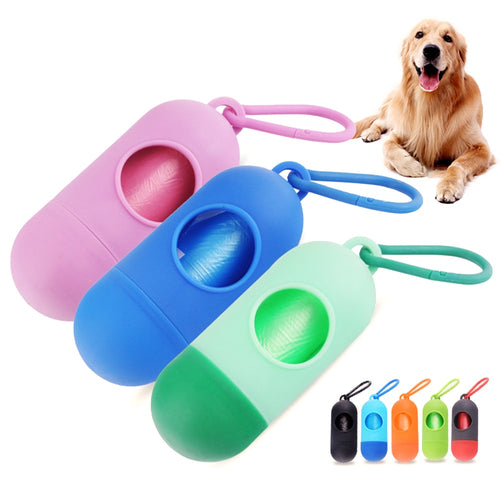 Pet Dog Poop Bags Pooper Bag Carrier Outdoor Dog Accessories Portable Poop Garbage Bags For Dogs Cat Pet Supplies Pooper Scooper