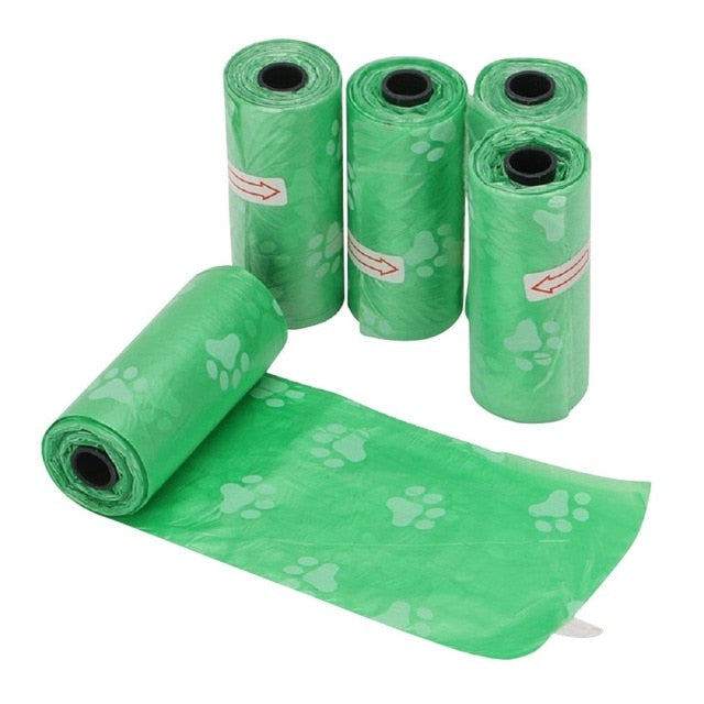 5Rolls/Pack Dog Poop Bag for Dog Pets Waste Garbage Bags Carrier Biodegradable Clean-up Bag Waste Pick Up Clean Bag For Dog