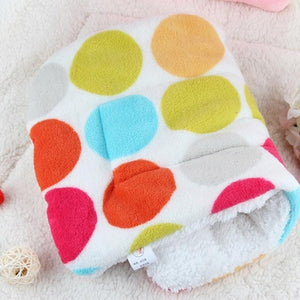 Winter Lovely Pet Cushion dog Mat Warm Star Print Puppy Fleece Mattress small dogs Blanket Bed Cat Pad 50*32cm