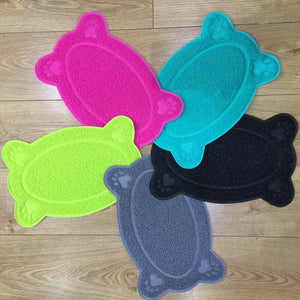 2019 Hot Sale 1pcs  Pet Dog Puppy Cat Feeding Mat Pad Cute PVC Bed Dish Bowl Food Feed Placement