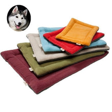 Load image into Gallery viewer, Soft Dog Bed Mat Pet Cushion House for Cats Warm Dog Blanket Solid Fleece Lounger Bed for Small Medium Large Dogs Pet Products