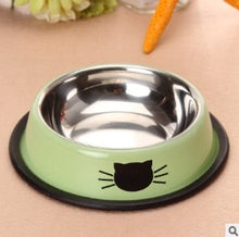 Load image into Gallery viewer, 1Pcs Dog Cat Food Bowls Stainless Steel Pets Drinking Feeding Bowls Pet Supplies Anti-skid Dogs Cats Water Bowl Pet Tools