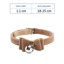 Load image into Gallery viewer, Cat Collar With Bell Collar For Cats Kitten Puppy Leash Collars For Cats Dog Chihuahua Pet Cat Collars Leashes Lead Pet Supplies