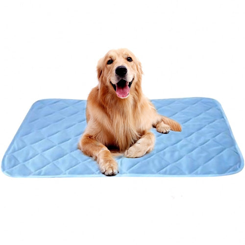 2019 New Summer Dog Mat Ice Pad 100*70CM Large Size Ice Silk Cool Pet Beds Sofa Cushion Fit All Pet Puppy Cat Summer Cooling Mat