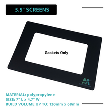 "Load image into Gallery viewer, Mach5ive 3-Pack Stick On Gasket for 3D Resin Printers for 5.5"" Screens - Mach5ive"