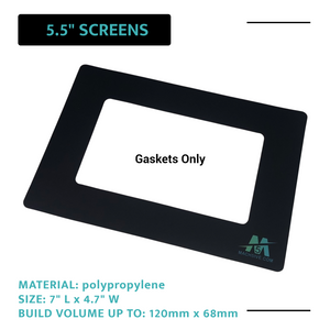 "Mach5ive 3-Pack Stick On Gasket for 3D Resin Printers for 5.5"" Screens - Mach5ive"