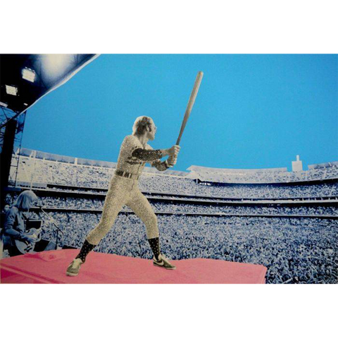"""Elton John: Home Run"" Dodger Stadium 1975 Print - Signed By David Studwell"