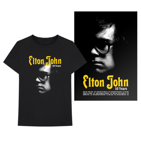 Elton John: 50th Anniversary Merch Bundle
