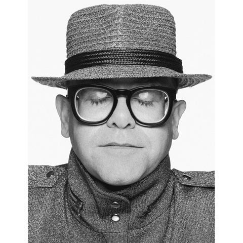 "Elton B&W Portrait By Terry O'Neill Fine Art Print - 20"" x 24"""