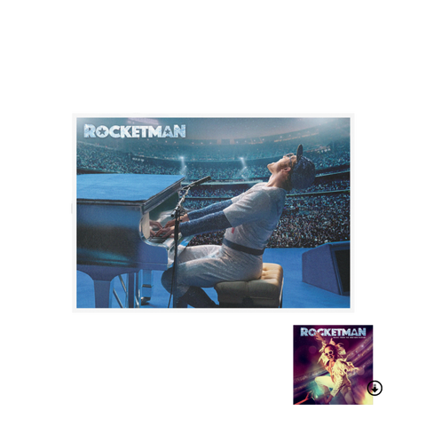Rocketman Lithograph + Rocketman: Music From The Motion Picture Digital Album