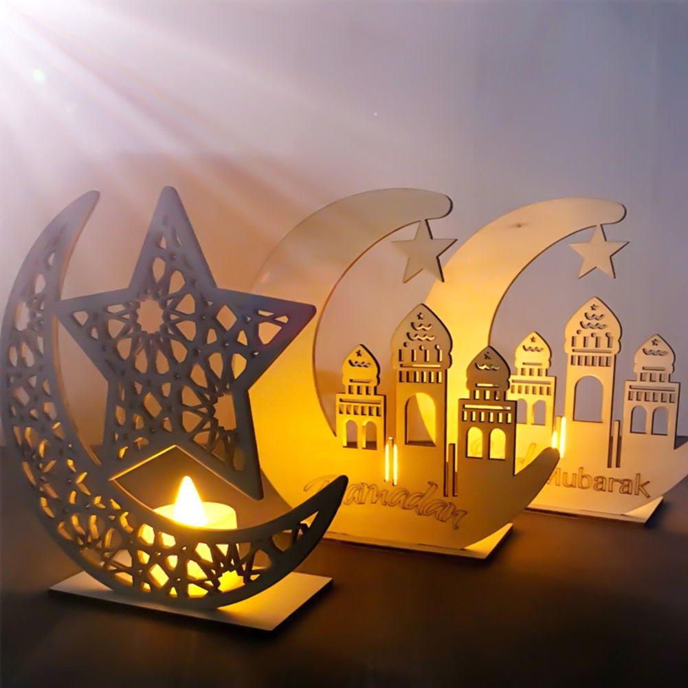 Moon Woorden Plaque Ramadan Decor