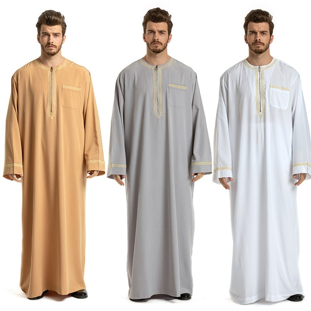 Men's Long Sleeve Thawb