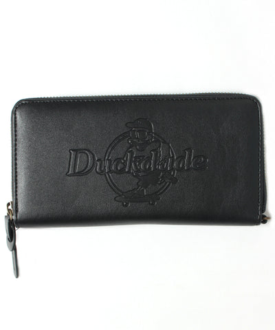 【DUCK DUDE】PU LEATHER EMBOSSED LONG WALLET
