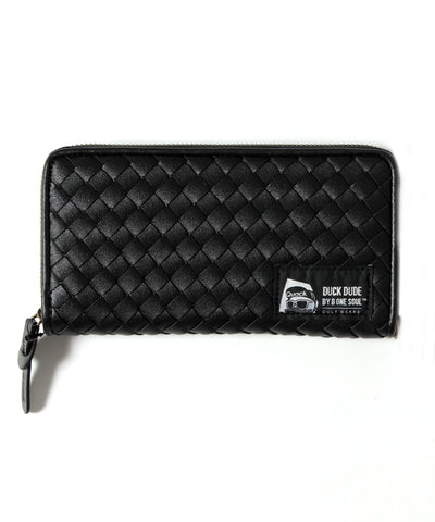 【DUCK DUDE】PU LEATHER BRAIDED LONG WALLET