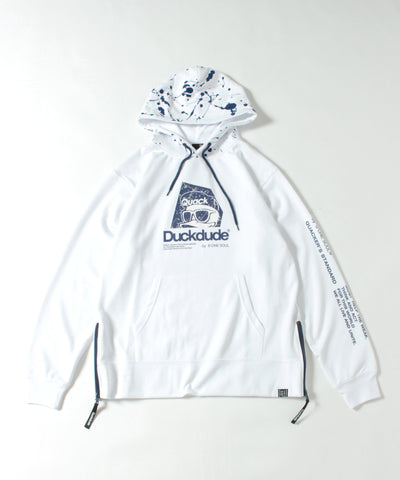 【 DUCK DUDE 】 SIDE ZIP TECH HOODIE
