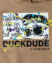 【 DUCK DUDE 】 DROP SHOULDER SPLASH HOODIE