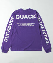 【 DUCK DUDE 】METALIC TEXT LONG SLEEVE T-SHIRT