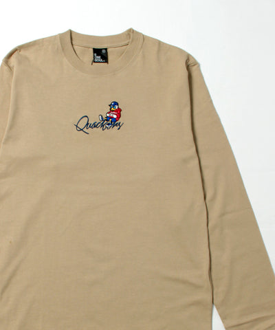 【 DUCK DUDE 】EMBROIDERY LONG SLEEVE TーSHIRT