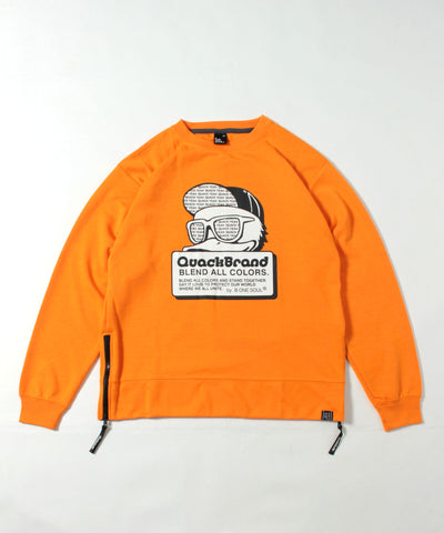 【 DUCK DUDE 】 SIDE ZIP TECH CREW
