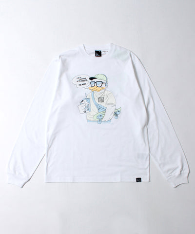 【DUCK DUDE】MILK PACK LONG SLEEVE T-SHIRT