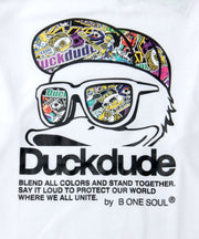 【DUCK DUDE】DD STICKERS LONG SLLEVE T-SHIRT