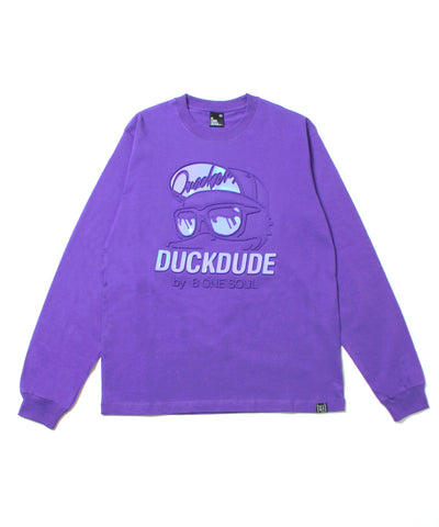 【 DUCK DUDE 】 METALIC EMBOSS LONG SLEEVE TーSHIRT