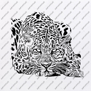Tiger Svg File - Tiger Original Svg Design - Animals Svg - Clip art - Tiger Vector Graphics- Svg For Cricut - Svg For Silhouette - DXF - EPS