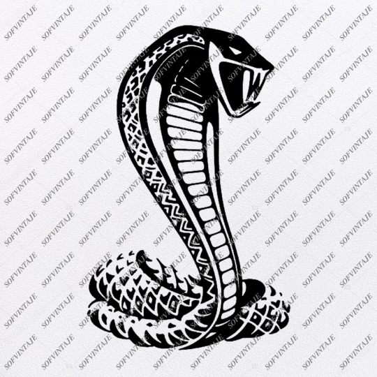 Snake Cobra Svg File-Snake-Original Svg Design-Animals Svg-Snake For Tattoo-Clip art-Cobra Vector Graphics-Svg For Cricut-Svg For Silhouette -SVG - EPS -PDF - DXF - PNG - JPG - AI