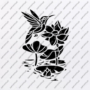 Hummingbird Svg File-Tattoo Svg Design-Clipart-Hummingbird Svg Files- Hummingbird Png-Vector Graphics-Svg For Cricut-For Silhouette-SVG - EPS - PDF - DXF - PNG - JPG - AI