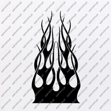 Load image into Gallery viewer, skull with flame Svg File-Skull Svg Design - Clipart-Motorcycles Svg File-Skull Png-Vector Graphics-Svg For Cricut-For Silhouette-DXF-EPS