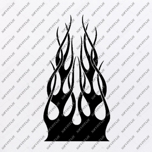 skull with flame Svg File-Skull Svg Design - Clipart-Motorcycles Svg File-Skull Png-Vector Graphics-Svg For Cricut-For Silhouette-DXF-EPS